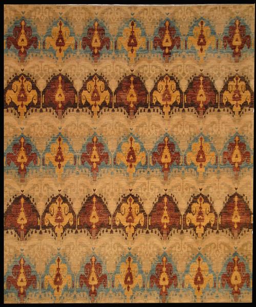 Ikat design rug 8' x 9'6