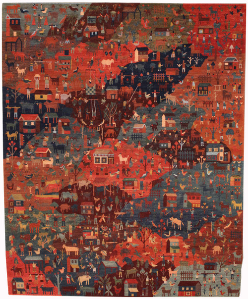 8' x 10 Handmade Tibetan Rug