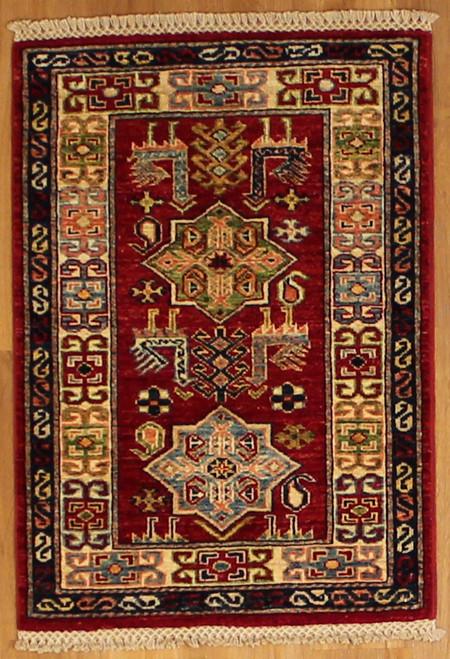 2' x 2'10 Handmade Afghan Kazak