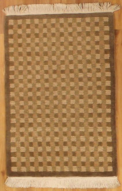 2' x 3' Handmade Modern Tibetan Rug