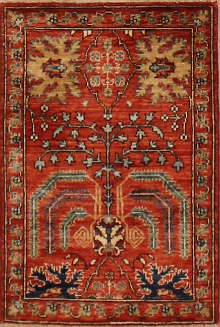 2'1 x 3'1 Handmade Afghan Aryana