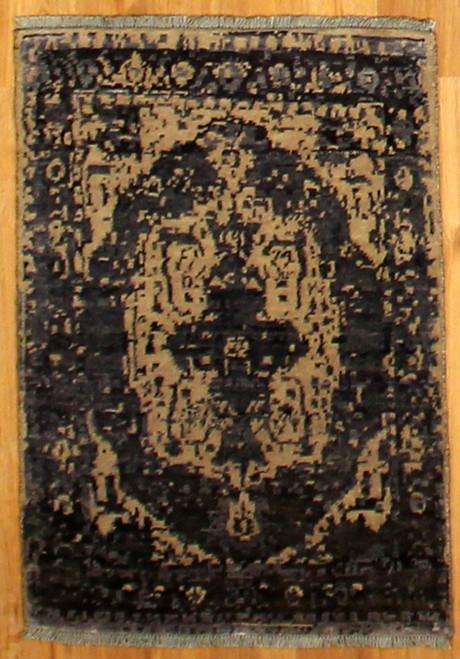 2'1 x 3' Handmade Tibetan 100 Knot (3)