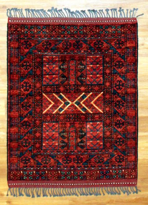 3'3 x 4' Afghan Turkmen
