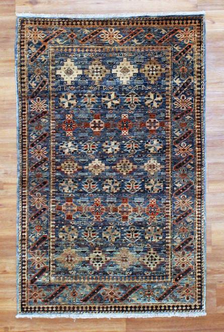 3'1 x 4'10 Handmade Afghan rug