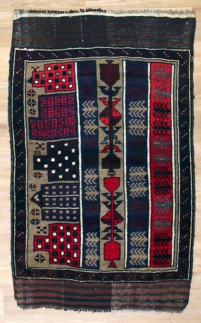 2'8 x 4'3 Afghan Baluch