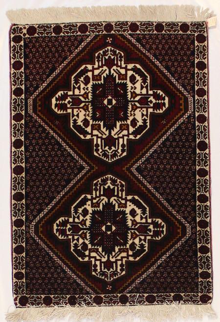 2'8 x 3'9 Handmade Persian Afshar