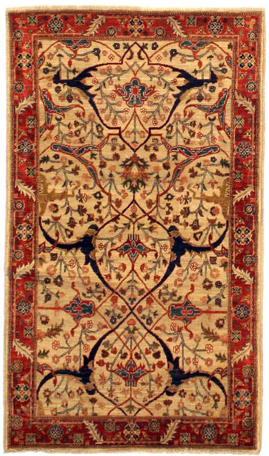 3' x 5'2 Afghan rug