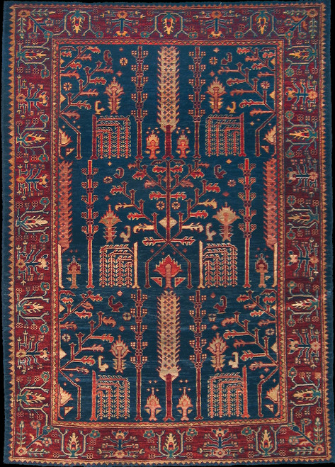 4'2 x 5'10 Handmade Afghan rug
