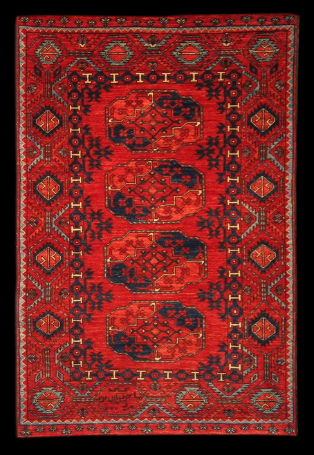3'11 x 6'1 Afghan Tribal rug