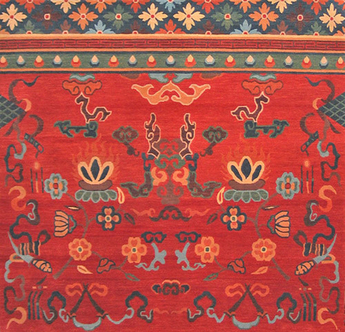 Traditional Tibetan design rug