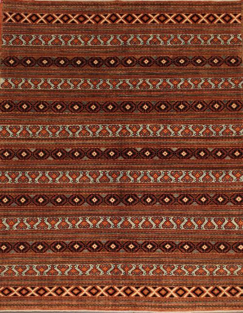 "Handmade Afghan rug 7'10"" x 9'8"""