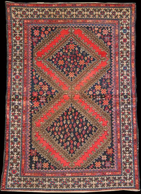 Antique Persian Afshar 4' x 5'10