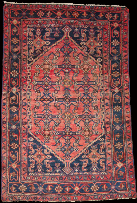 4'2 x 6'4 Antique Persian Hamadan