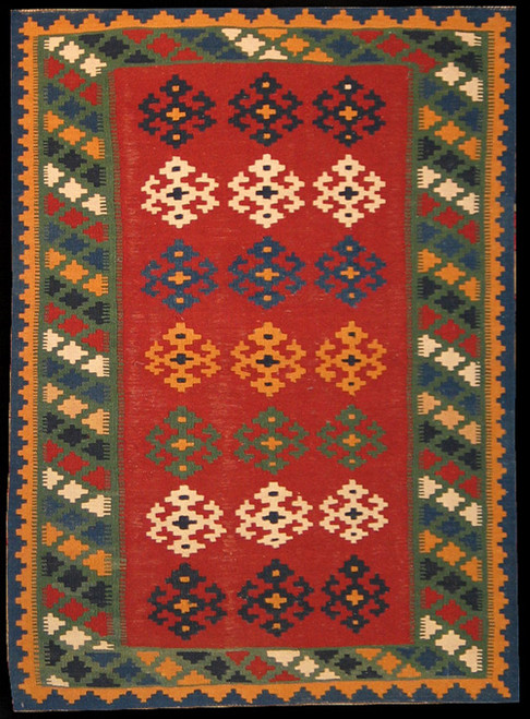 Persian Qashqi Kilim 3'4 X 4'7