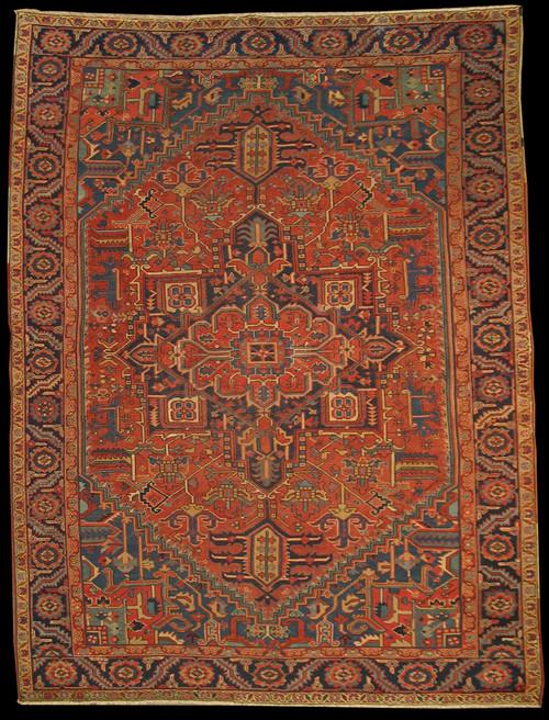 Antique Persian Heriz 9'1 x 12'