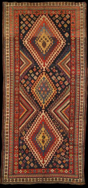 4'10 X 10'6 Antique Persian Lori Rug