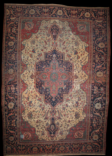 Antique Persian Farahan 9' X 12'