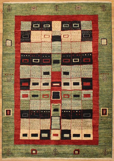 Gabbeh design Pakistani rug 4'2 X 5'11