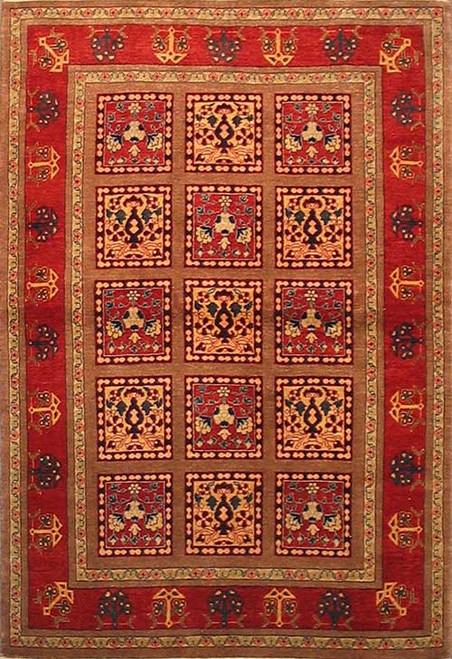 Persian Varamin Rug 4'2 X 6'1
