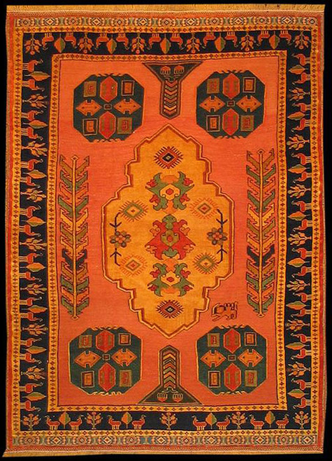 4'8 X 6'4 Persian tribal design rug