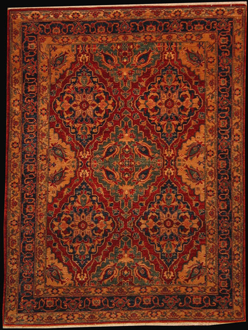 "4'11"" X 6'6"" Tradition design red rug"