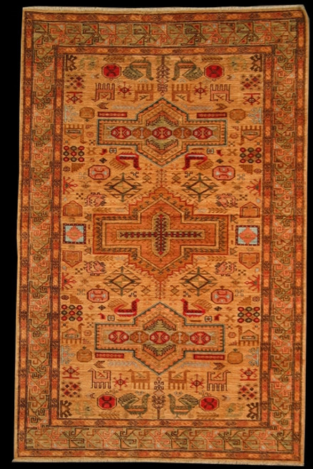 5' X 7'9 Tribal Design Rug