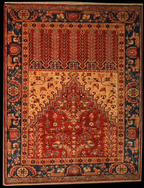 4'9 X 6' Turkish design Prayer Rug