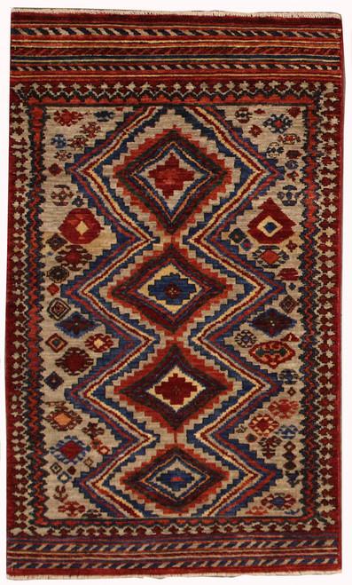 3' x 5'1 Afghan Tribal Rug