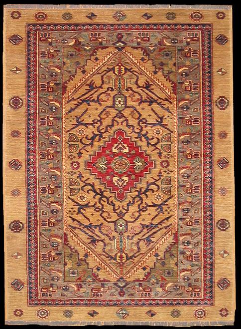 4'1 x 5'7 Handmade Pakistani Rug