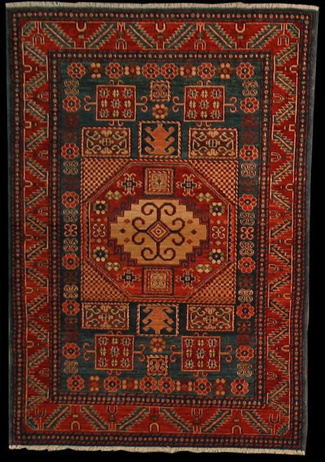 4' X 5'10 Caucasian design rug