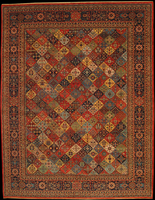 "9'2"" X 11'9"" Overall design Indian Rug"