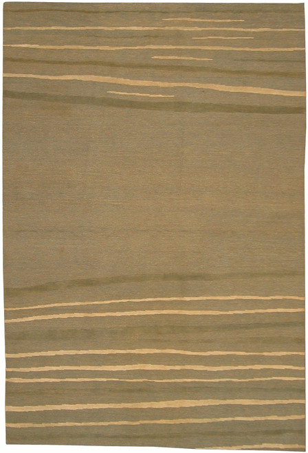 "6'1"" X 8'11"" 100 Knot Modern rug with Silk"