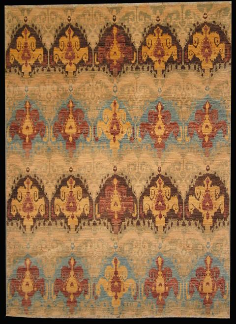 5.6 X 7.6 Afghan Ikkat design rug