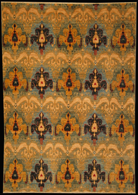 5.5 X 7.7 Ikkat design rug