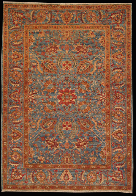 Traditional Design Afghan Rug 4.3 X 6.0