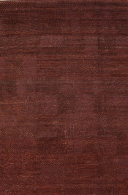 """6' X 8'10"""" Modern design burgundy rug"""