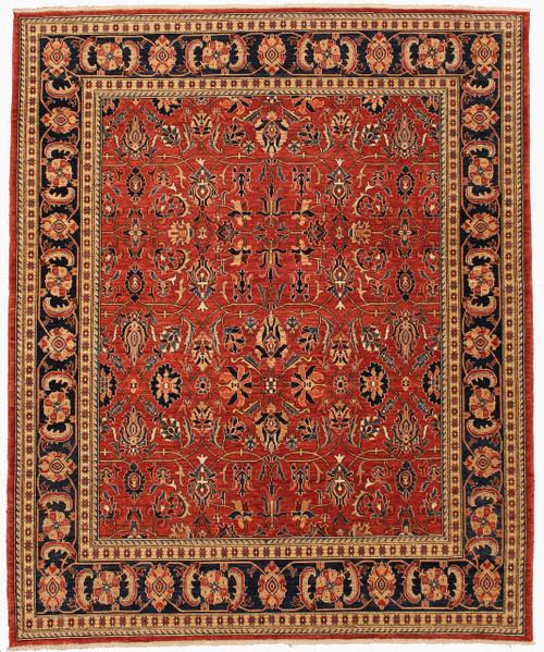"8'2"" x 9' 10"" overall design woven rug"