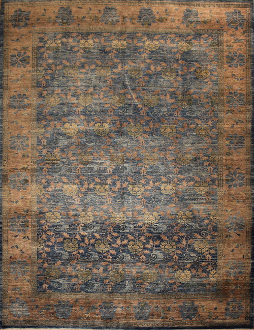 9' X 11'11 Transitional design rug