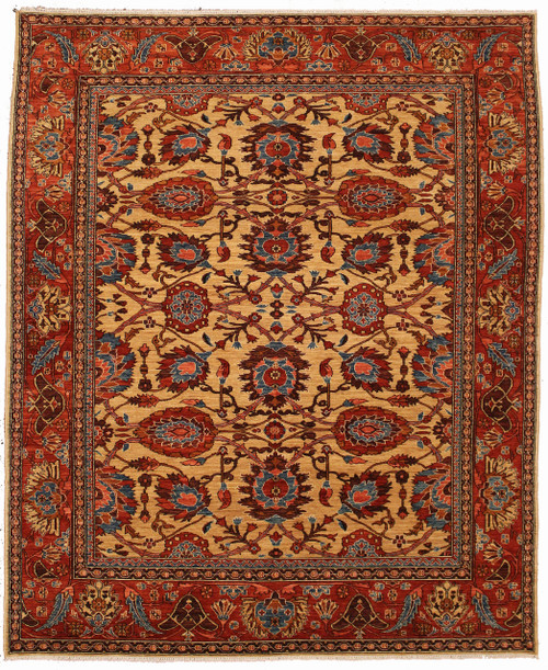 Overall design wheat background color rug 8'3 x 10'