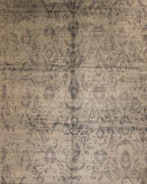 8' X 9'10 Hand Knotted  Bamboo Silk rug