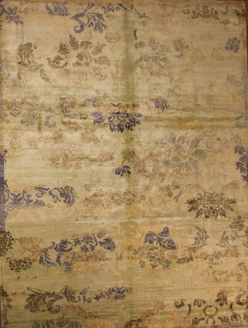 7'11 X 10'4  Hand knotted Bamboo Silk rug