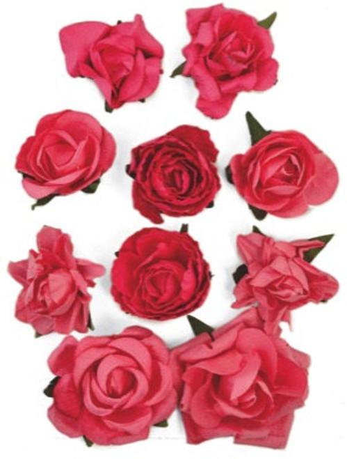 Kaisercraft Paper Blooms - Hot Pink