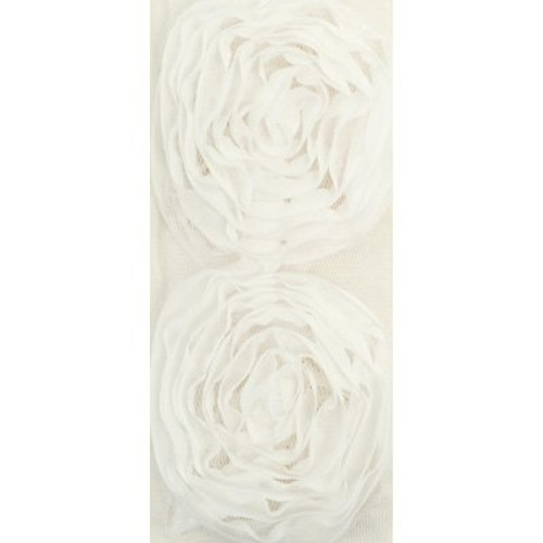 Kaisercraft Ribbon Roses Large|White