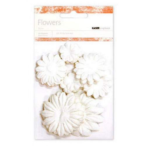 Kaisercraft Paper Flowers - Snow