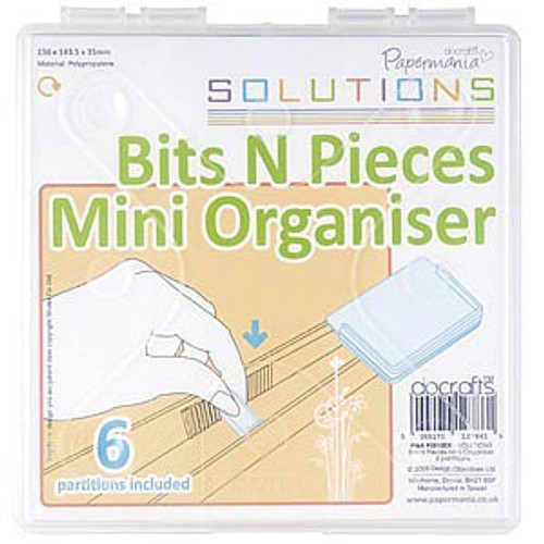 Docrafts Papermania- Bits N Pieces- Mini Organiser With 6 Partitions (clear)