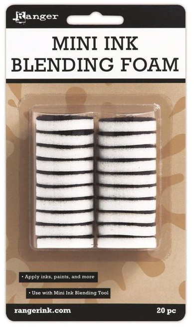 "1"" Round Mini Ink Blending Replacement Foams   - 20 pc"