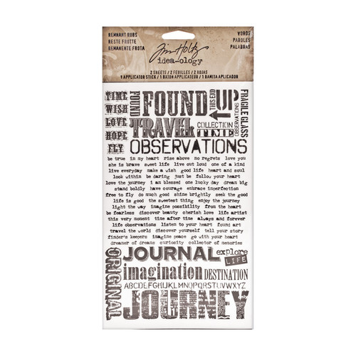 Tim Holtz - Idea-ology Remnant Rubs - Words