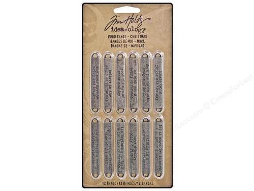 Metal Word Bands - Tim Holtz - Idea-ology Collection