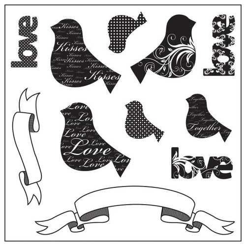 Maya Road - Love Chirps Stamp Sheet (11pcs)