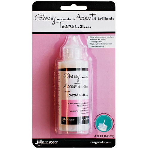 Glossy Accents - Ranger Ink - Inkssentials -  Clear Dimensional Glue - 2 fl. oz. (59ml)